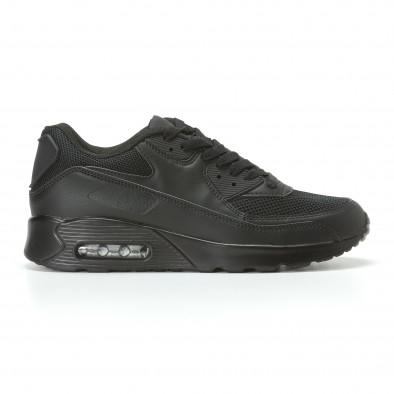 e5f3c1a092a Ανδρικά μαύρα αθλητικά παπούτσια Reeca it110817-73 - Fashionmix.gr