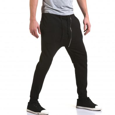 Ανδρικό μαύρο παντελόνι jogger G.Victory it090216-61 4