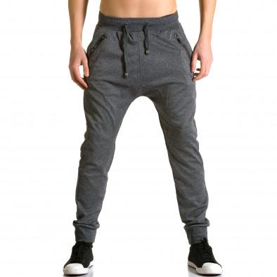 Ανδρικό γκρι παντελόνι jogger Furia Rossa ca190116-18 2