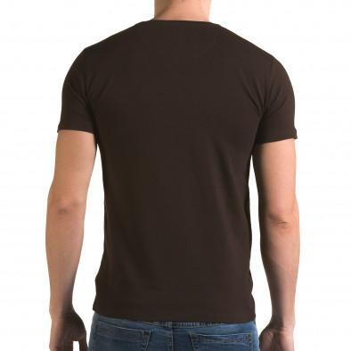 Ανδρική καφέ κοντομάνικη μπλούζα Lagos il120216-29 3