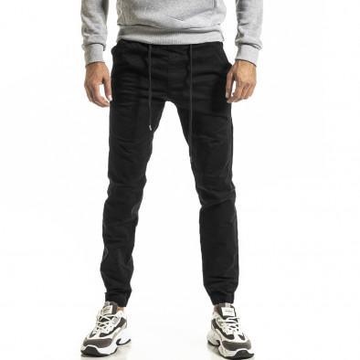 Ανδρικό μαύρο παντελόνι Jogger tr031220-1 2