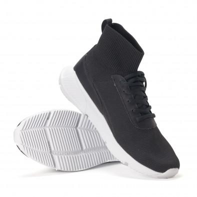 Ανδρικά μαύρα αθλητικά παπούτσια κάλτσα it020618-17 4