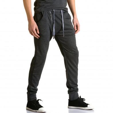 Ανδρικό μαύρο παντελόνι jogger Furia Rossa ca190116-16 4
