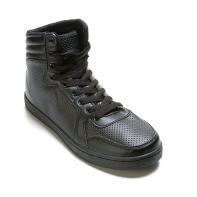 Ανδρικά μαύρα sneakers Niadi it211015-1 3