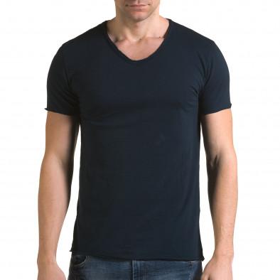 Ανδρική γαλάζια κοντομάνικη μπλούζα FM it090216-75 2