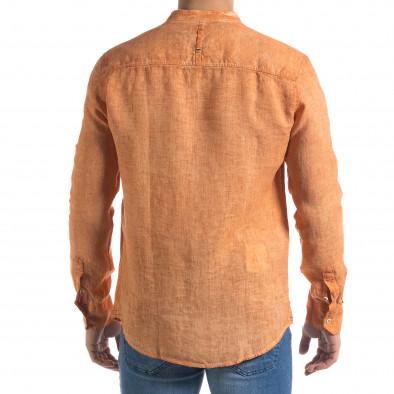 Ανδρικό πορτοκαλί πουκάμισο RNT23 tr110320-91 4