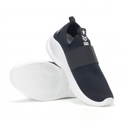Ανδρικά μαύρα αθλητικά slip-on κάλτσα με διακοσμητικό λάστιχο it160318-33 4