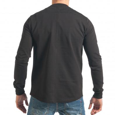 Ανδρικό μαύρο φούτερ RHUM22 it290118-100 3