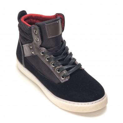 Ανδρικά μαύρα sneakers Reeca it100915-22 3