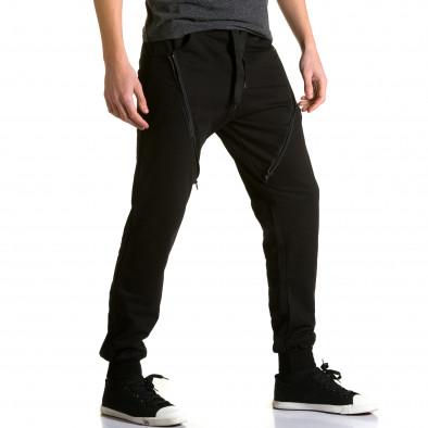 Ανδρικό μαύρο παντελόνι jogger DelPiero ca190116-25 4