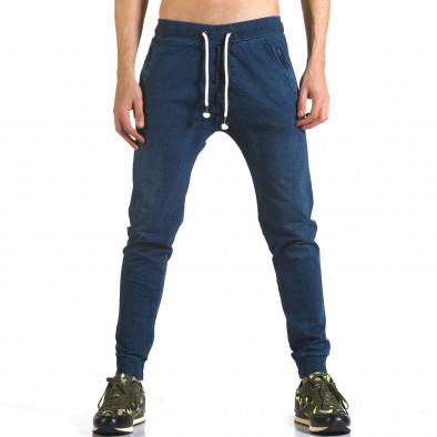 Ανδρικό γαλάζιο παντελόνι jogger Enos it090216-56 2