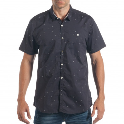 81a205059d00 Ανδρικό γαλάζιο κοντομάνικο πουκάμισο CROPP lp180717-125 - Fashionmix.gr