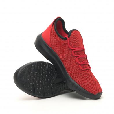 Ανδρικά κόκκινα μελάνζ αθλητικά παπούτσια ελαφρύ μοντέλο it041119-1 5