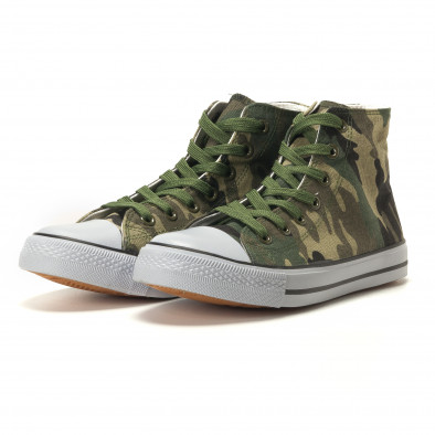 Ανδρικά καμουφλαζ sneakers Osly it260117-31 3