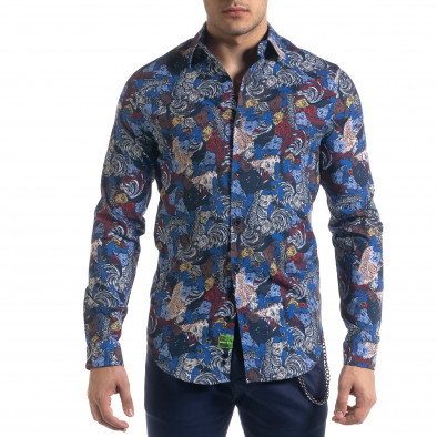 Ανδρικό πολύχρωμο πουκάμισο Open tr110320-99 2