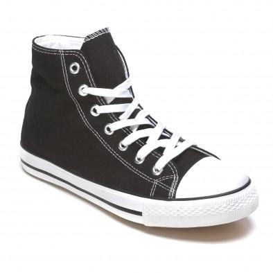Ανδρικά μαύρα sneakers Dilen it170315-8 3
