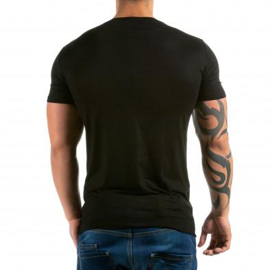 Ανδρική μαύρη κοντομάνικη μπλούζα Jesse James il180215-32 3