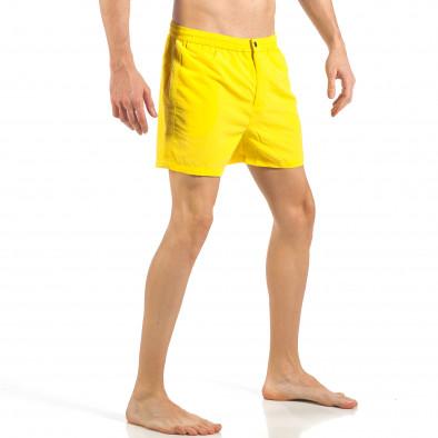 Ανδρικό κίτρινο μαγιό με φερμουάρ και κουμπί  it260318-203 3