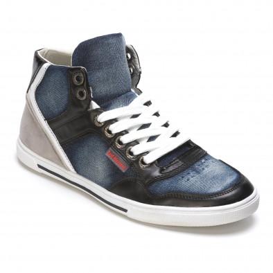 Ανδρικά γαλάζια sneakers Staka It050216-15 3
