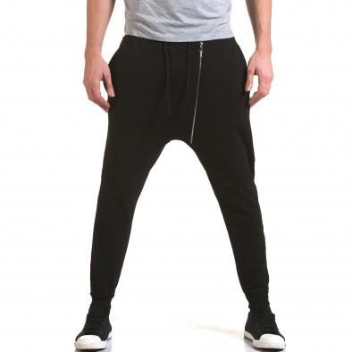 Ανδρικό μαύρο παντελόνι jogger G.Victory it090216-61 2