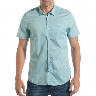 b5b3a156acf3 Ανδρικό γαλάζιο κοντομάνικο πουκάμισο CROPP lp180717-139 - Fashionmix.gr