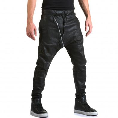 Ανδρικό μαύρο παντελόνι jogger Top Star it211015-60 4