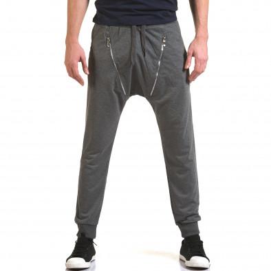 Ανδρικό γκρι παντελόνι jogger Belmode it090216-45 2