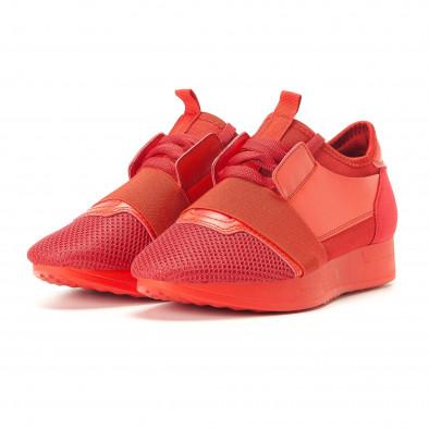 Γυναικεία κόκκινα αθλητικά παπούτσια Anesia it200917-51 3