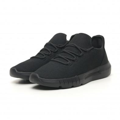 Ανδρικά αθλητικά παπούτσια ελαφρύ μοντέλο All Black it041119-4 2