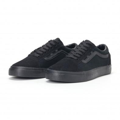 Ανδρικά μαύρα υφασμάτινα sneakers Old Skool it160318-25 4