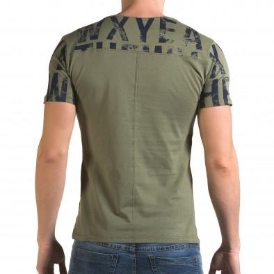 Ανδρική πράσινη κοντομάνικη μπλούζα Lagos il120216-33 3