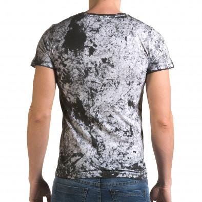 Ανδρική γκρι κοντομάνικη μπλούζα Lagos il120216-47 3