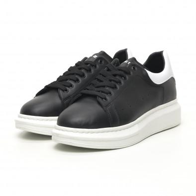 Ανδρικά μαύρα sneakers με χοντρή σόλα tr180320-34 3