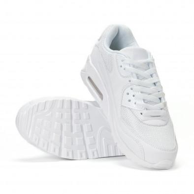 Ανδρικά λευκά αθλητικά παπούτσια με σόλες αέρα it160318-2 4