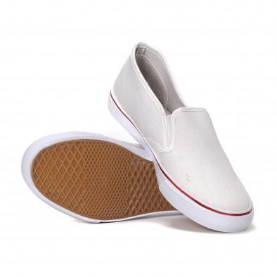 Ανδρικά λευκά sneakers slip-on  it240418-8 4