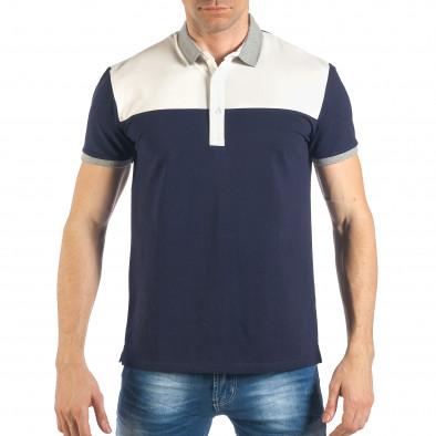 64083c341bf8 Ανδρική μπλε πόλο κοντομάνικη μπλούζα it260318-188 - Fashionmix.gr