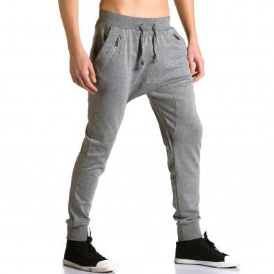 Ανδρικό γκρι παντελόνι jogger Furia Rossa ca190116-17 4