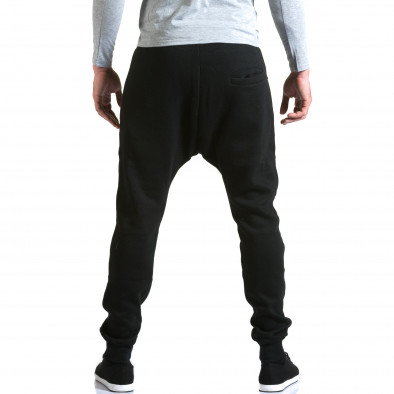 Ανδρικό μαύρο παντελόνι jogger New Star it211015-57 3