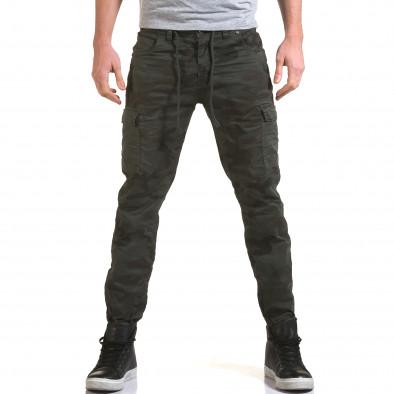 Ανδρικό γκρι παντελόνι Yes Design it090216-12 2