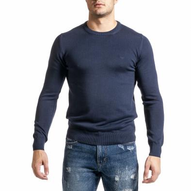 Ανδρικό γαλάζιο πουλόβερ Code Casual tr231220-2 2