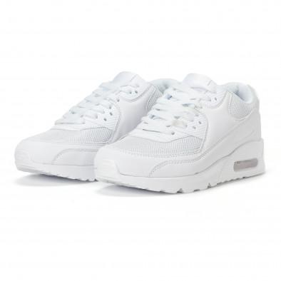 Ανδρικά λευκά αθλητικά παπούτσια με σόλες αέρα it160318-2 3