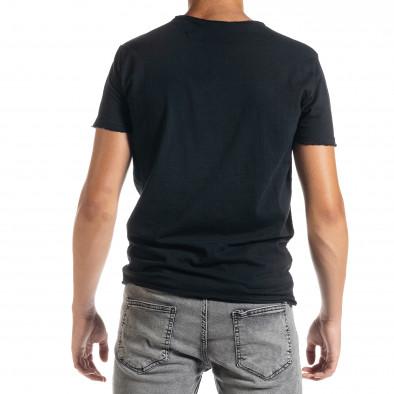Ανδρική μαύρη κοντομάνικη μπλούζα Duca Homme it010720-25 3