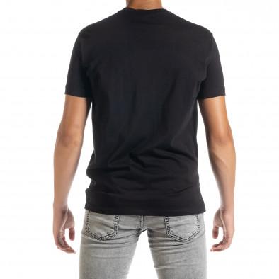 Ανδρική μαύρη κοντομάνικη μπλούζα Freefly tr010720-32 3