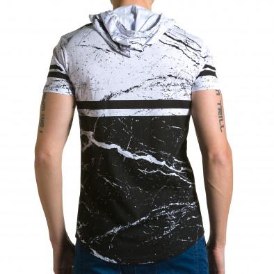 Ανδρική λευκή κοντομάνικη μπλούζα Belman ca190116-39 3