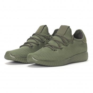 Ανδρικά πράσινα ελαφριά αθλητικά παπούτσια All-green it240418-7 3