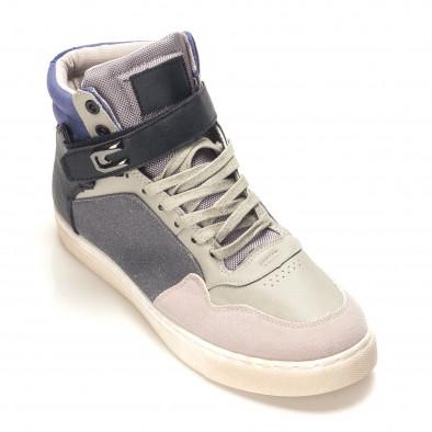 Ανδρικά γκρι sneakers Reeca it100915-17 3