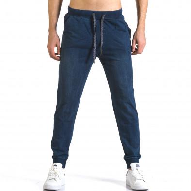 Ανδρικό γαλάζιο παντελόνι jogger Enos it090216-58 2