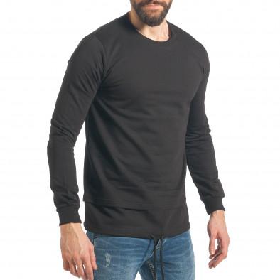 Ανδρικό μαύρο φούτερ RHUM22 it290118-101 4