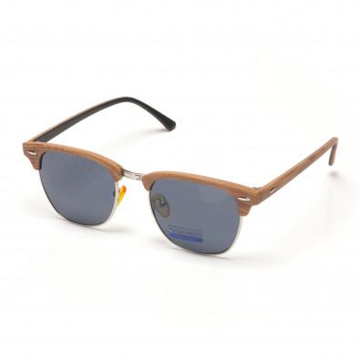 Ανδρικά ρέτρο μαύρα γυαλιά ηλίου με ξύλινο σκελετό it250418-18 ... 26a2235dc96