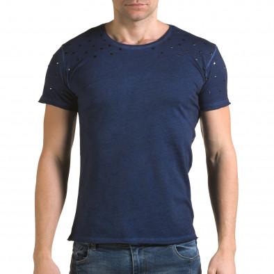 Ανδρική γαλάζια κοντομάνικη μπλούζα Lagos il120216-4 2